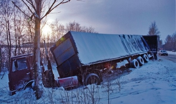 Truck Accident From Weather Conditions