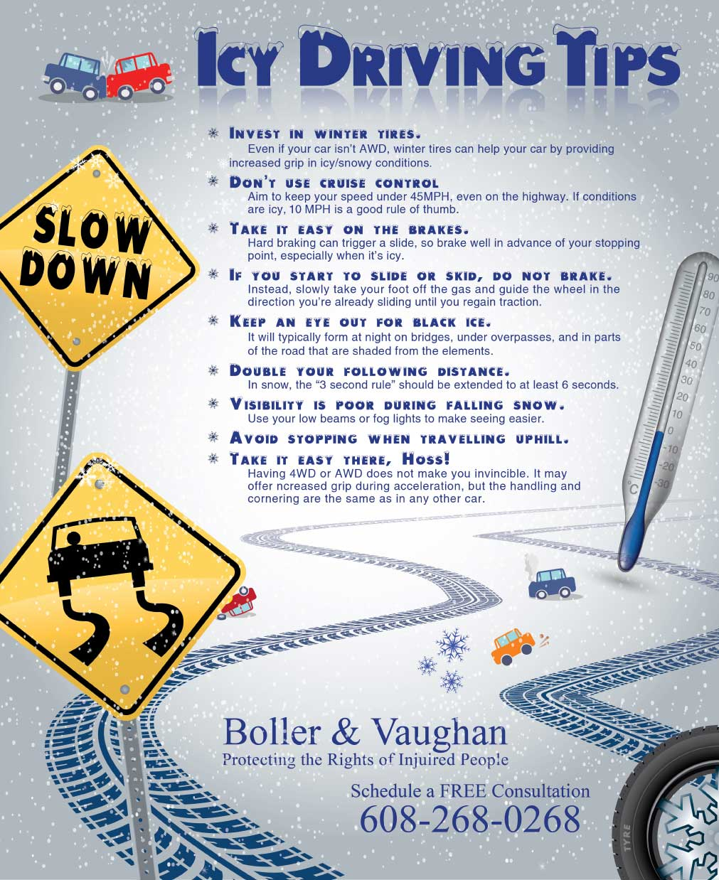 Madison Icy Road Driving Tips
