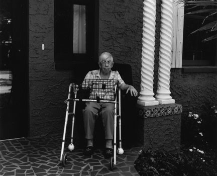 elderly patient with walker