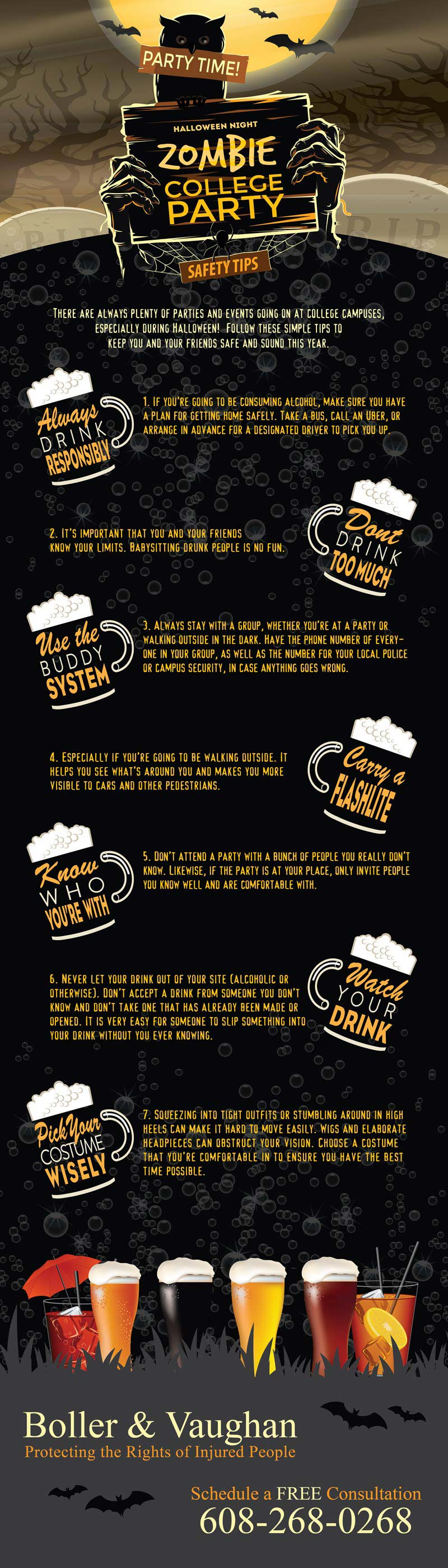 college halloween party safety tips