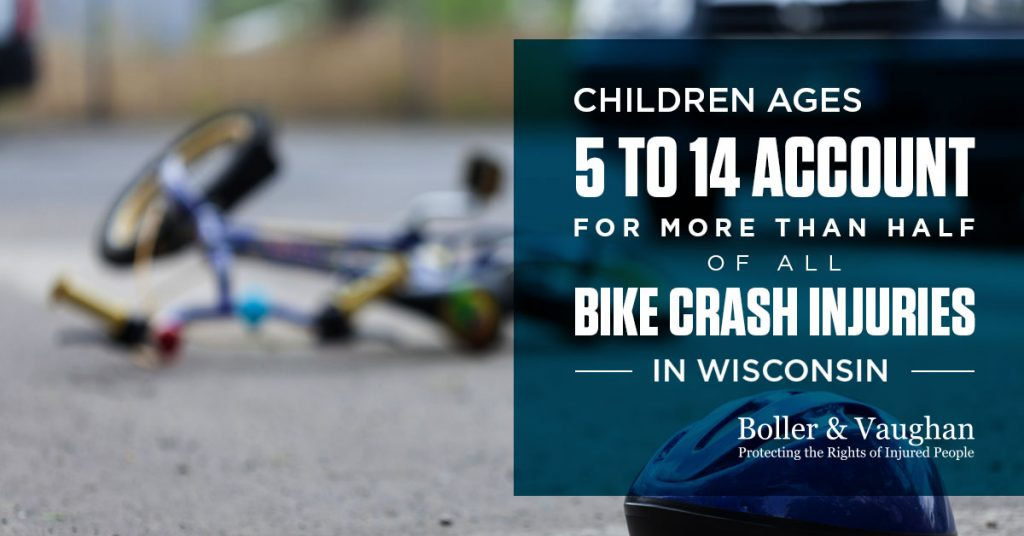 infographic with wisconsin bike accident data